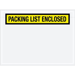 "6 3/4"" x 5"" Yellow ""Packing List Enclosed"" Envelopes 1000/Case"
