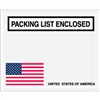 "4 1/2"" x 5 1/2"" U.S.A. Flag ""Packing List Enclosed"" Envelopes 1000/Case"