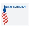 "7"" x 5 1/2"" U.S.A. Flag ""Packing List Enclosed"" Envelopes 1000/Case"