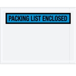 "4 1/2"" x 6"" Blue ""Packing List Enclosed"" Envelopes 1000/Case"