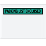 "4 1/2"" x 6"" Green ""Packing List Enclosed"" Envelopes 1000/Case"