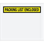 "7"" x 6"" Yellow ""Packing List Enclosed"" Envelopes 1000/Case"