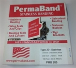 "STAINLESS BANDING, TYPE 201, 3/8"" X .025, BOXED, 100 FT/COIL"