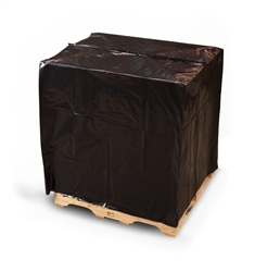 Black Pallet Top Covers with UVI/UVA  50 in. W. x 42 in. D. x 69 L. x 3 Mil 45/Roll