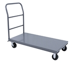 Platform Truck, 30x60 Steel Deck 2000 lb Cap Removable Hndl