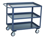 Cart, 3 Shelf Service 18x24 1200# Cap Std Handle