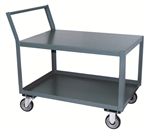 Cart, 2 Shelf  Low Profile 18x30 1200# Cap Offset Handle