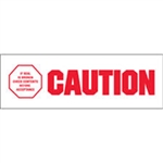 "TAPE, PRINTED ""CAUTION IF SEAL IS BROKEN"", 2"" X 110 YD, 36/CS, WHITE/RED"