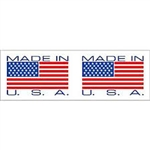 "TAPE, PRINTED ""MADE IN USA"", 2"" X 110 YD, 36/CS, WHITE/RED"