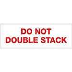 "TAPE, PRINTED ""DO NOT DOUBLE STACK"", 2"" X 110 YD, 36/CS, WHITE/RED"