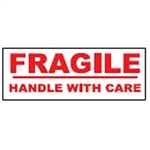 "TAPE, PRINTED ""FRAGILE HANDLE WITH CARE"", 3"" X 110 YD, 24/CS, WHITE/RED"