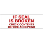 "TAPE, PRINTED ""IF SEAL IS BROKEN"", 3"" X 110 YD, 24/CS, WHITE/RED"