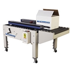 "Case Sealer, Uniform Semi-Automatic Bottom Only Sealing Side Belt Drive  2"" HSD2000 ETII Tape Head"