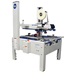 "Case Sealer, Uniform Semi-Automatic Bottom Belt Drive w/Top Squeezers & 2"" HSD2000-ETII Tape Heads"
