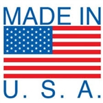 "LABELS, 4"" x 4"", MADE IN USA/FLAG, 500/ROLL"