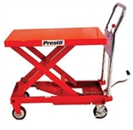 "SCISSOR LIFT TABLE, PORTABLE, 1500 LB., 24""x36"", 24"" TRAVEL"