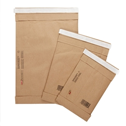 BAG, PADDED KRAFT SHIPPING, SELF SEAL, #2, 8.5 X 12, 100/CS