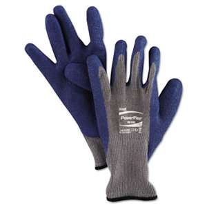 ANSELL LIMITED PowerFlex Gloves, Blue/Gray, Size 10, 1 Pair