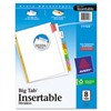 AVERY-DENNISON Insertable Big Tab Dividers, 8-Tab, Letter