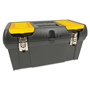 STANLEY BOSTITCH Series 2000 Toolbox w/Tray, Two Lid Compartments