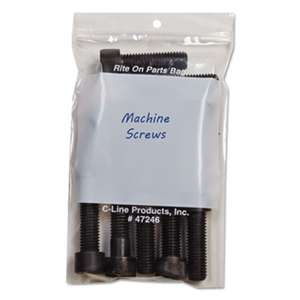 C-LINE PRODUCTS, INC Write-On Recloseable Small Parts Bags, Poly, 2 Mil, 4 x 6, Clear, 1000/Carton