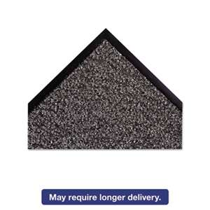 "CROWN MATS & MATTING Dust-Star Microfiber Wiper Mat, 36"" x 60"", Charcoal"