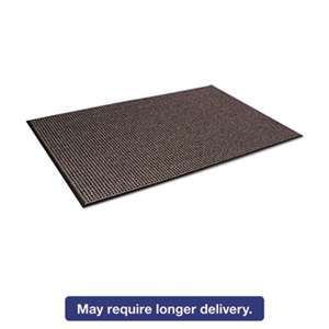 CROWN MATS & MATTING Oxford Wiper Mat, 36 x 60, Black/Brown