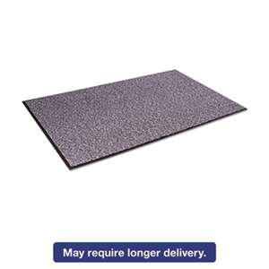 CROWN MATS & MATTING Cordless Stat-Zap Carpet Top Mat, Polypropylene, 36 x 60, Pewter