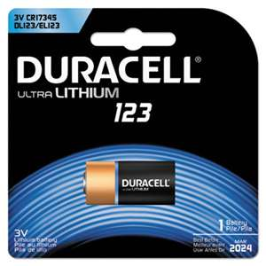 Duracell DL123ABPK Ultra High-Power Lithium Battery, 123, 3V