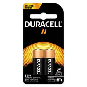 Duracell MN9100B2PK Coppertop Alkaline Medical Battery, N, 1.5V, 2/Pk