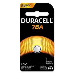 Duracell PX76A675PK09 Alkaline Medical Battery, 76A, 1.5V