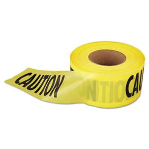 "EMPIRE LEVEL Caution Barricade Tape, 3"" x 1000ft, Yellow/Black"