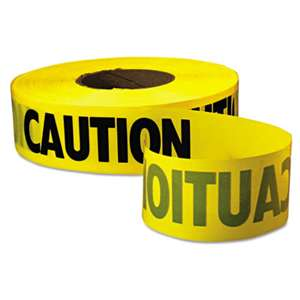 "EMPIRE LEVEL Caution Barricade Tape, ""Caution"" Text, 3"" x 1000ft, Yellow/Black"