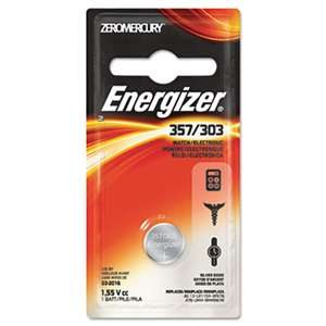 Energizer 357BPZ Watch/Electronic Battery, SilvOx, 357, 1.5V, MercFree