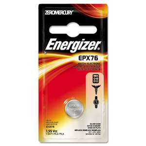 Energizer EPX76BPZ Watch/Electronic Battery, SilvOx, EPX76, 1.5V, MercFree