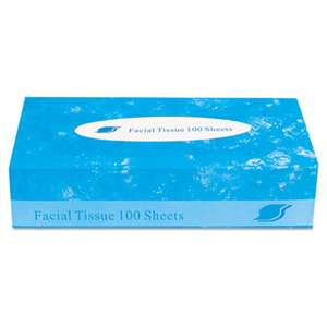 GENERAL SUPPLY Boxed Facial Tissue, 2-Ply, White, 100 Sheets/Box