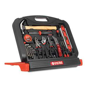 GREAT NECK SAW MFG. 48-Tool Set in Blow-Molded Case, Black