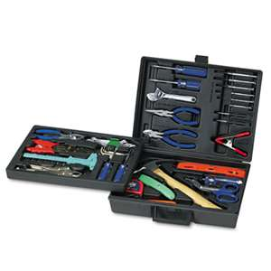 GREAT NECK SAW MFG. 110-Piece Home/Office Tool Kit, Drop Forged Steel Tools, Black Plastic Case