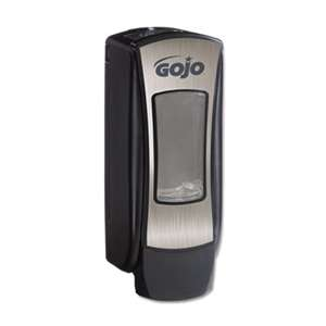 GO-JO INDUSTRIES ADX-12 Dispenser, 1250mL, Brushed Chrome/Black
