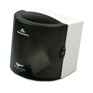 Georgia Pacific Professional 58201 Center Pull Hand Towel Dispenser, 10 7/8w x 10 3/8d x 11 1/2h, Smoke
