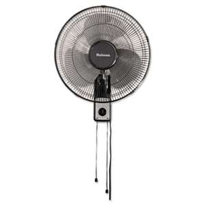 "HOLMES PRODUCTS 16"" Wall Mount Fan, 3-Speed, Metal, Black"
