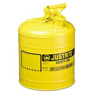 JUSTRITE MFG CO Safety Can, Type I, 5gal, Yellow