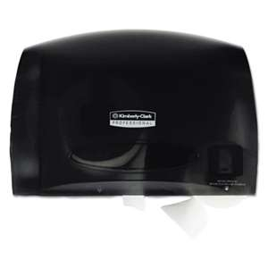 KIMBERLY CLARK Coreless JRT Tissue Dispenser, 14 1/4w x 6d x 9 7/10h, Smoke/Gray