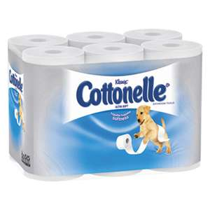 Cottonelle 12456 Ultra Soft Bath Tissue, 1-Ply, 165 Sheets/Roll, 48/Carton
