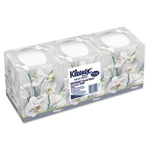 Kleenex 21200 Facial Tissue, 2-Ply, Pop-Up Box, 95/Box, 3 Boxes/Pack