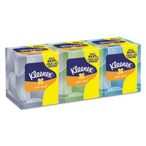 KIMBERLY CLARK Boutique Anti-Viral Facial Tissue, 3Ply, Pop-Up Box