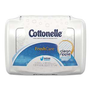 Cottonelle 36734 Fresh Care Flushable Cleansing Cloths, White, 3.75 x 5.5, 42/Pack