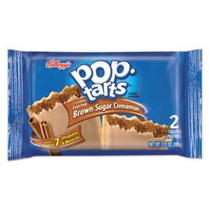 KELLOGG'S Pop Tarts, Frosted Brown Sugar Cinnamon, 3.52oz, 2/Pack, 6 Packs/Box
