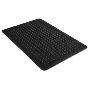 MILLENNIUM MAT COMPANY Flex Step Rubber Anti-Fatigue Mat, Polypropylene, 24 x 36, Black