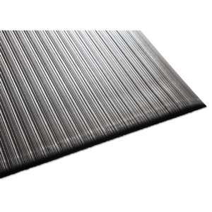 MILLENNIUM MAT COMPANY Air Step Antifatigue Mat, Polypropylene, 36 x 60, Black